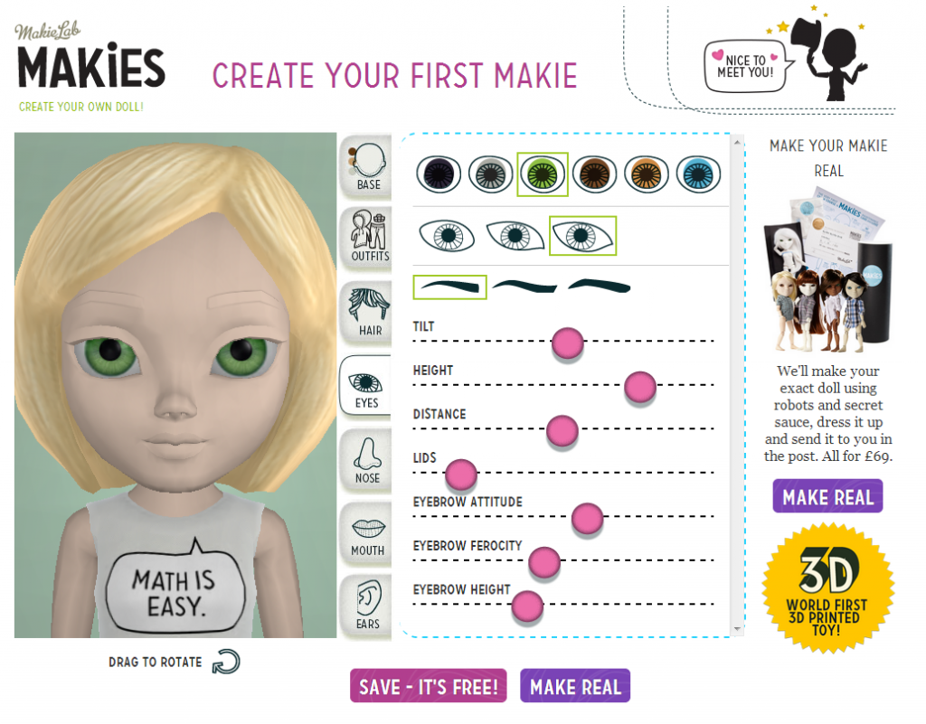 Create a Makie at www.makie.me